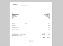 Bootstrap Invoice receipt example