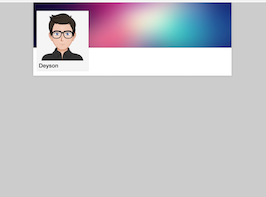 Bootstrap Profile cover example