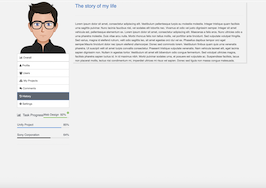 Bootstrap snippet Profile history