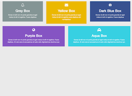Bootstrap snippets. box colored