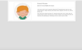 Bootstrap snippet Profile bio