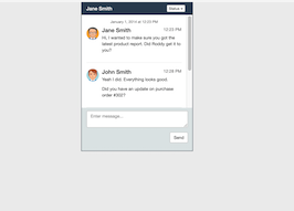 Bootstrap Chat box example