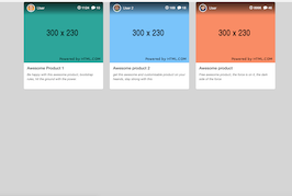 Bootstrap snippet product cards
