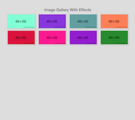 Bootstrap snippet Image gallery with effects