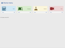 Bootstrap Home menu example