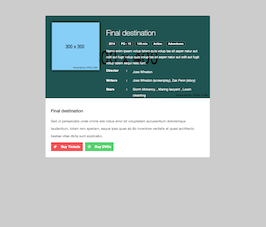 Bootstrap snippet movie ticket