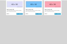 Bootstrap snippet block products