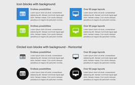 Bootstrap icon block example