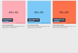 Bootstrap snippet image with label