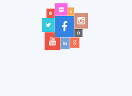Bootstrap snippets. Social media collage