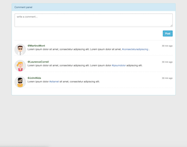 Bootstrap snippet Simple Comment panel
