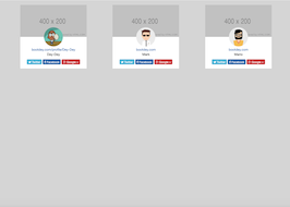 Bootstrap snippet profile cards with social links