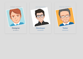 Bootstrap snippet Team member cards