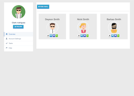 Bootstrap Followers page example