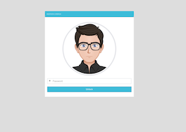 Bootstrap locked screen page example