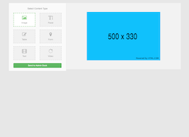 Bootstrap snippet Select Content Type
