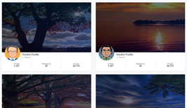 Bootstrap snippets. followers list