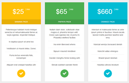 Bootstrap pricing table like material design example