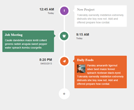 Bootstrap tickets timeline example