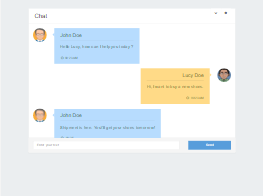 Bootstrap messages chat widget example