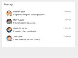 Bootstrap snippet messages data widget
