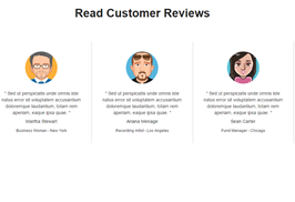 Bootstrap Customer Reviews example