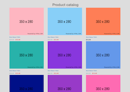 Bootstrap snippet product catalog