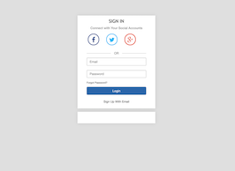 Bootstrap login box example
