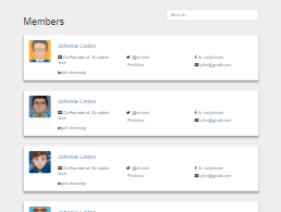 Bootstrap snippet Members