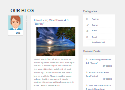 Bootstrap blog content page example
