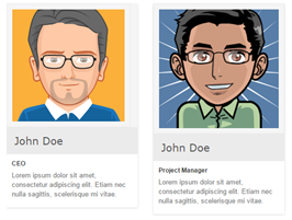 Bootstrap team members example