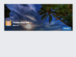 Free bootstrap example. Cover Profile image with button