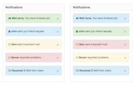 Bootstrap snippet notifications panel