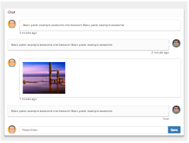 Bootstrap snippet chat widget message with image