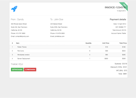 Bootstrap Invoice with ribbon example