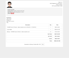 Bootstrap Receipt page example