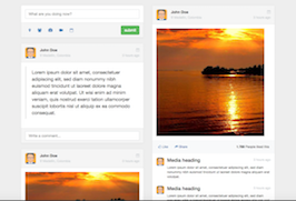 Bootstrap social network wall activities example