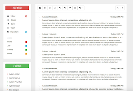 Bootstrap snippets. Clear inbox list