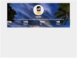 Bootstrap snippets. user profile cover with links