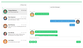 Bootstrap snippets. Green chat room