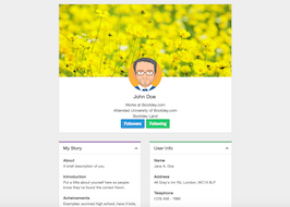 Bootstrap snippet User profile account setting