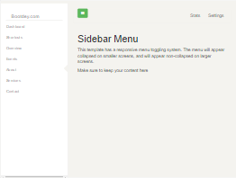 Bootstrap Sidebar left menu example
