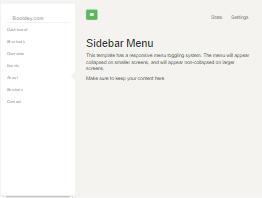 Bootstrap snippet Sidebar left menu