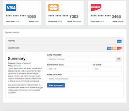Bootstrap payment credit card form example