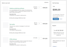 Bootstrap snippet shopping cart checkout