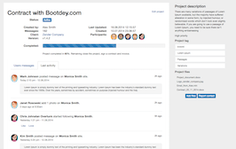Bootstrap snippet Project view details page