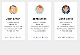 Bootstrap snippet Clean contact cards list