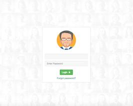Bootstrap snippet social network login