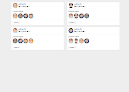 Bootstrap snippets. friends panel list