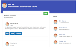 Bootstrap snippet Social network wall